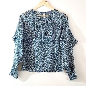 Sunday in Brooklyn Abstract Flowy Blouse